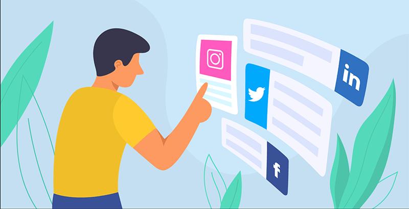 presenza sui social media