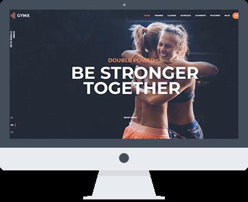 sito web per centri fitness