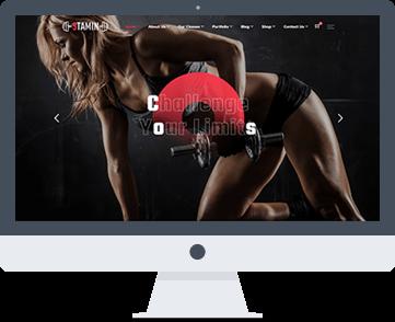 sito web per centro fitness